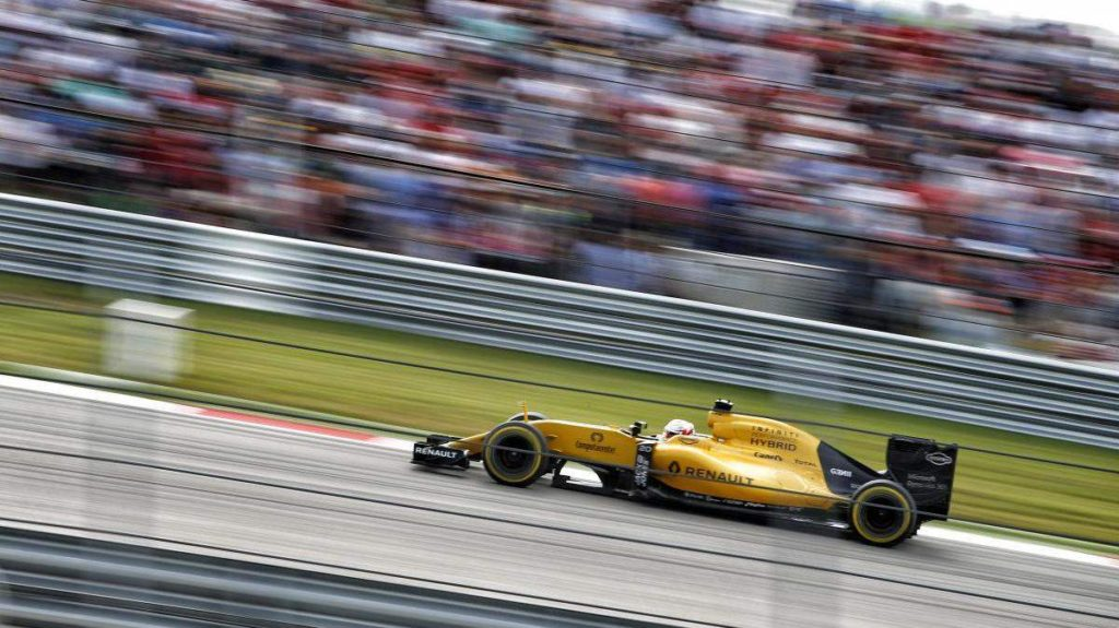 AUSTIN, Texas (Oct. 23, 2016) – Renault Sport Formula One Team's Kevin Magnussen made a late charge to take P11 on track and thus finished just shy of the points in today's United States Grand Prix. Kevin started from P18 on a planned one-stop strategy, but as the race played out this was adapted to a two and finally a three-stop. Post-race Kevin was given a five-second penalty, placing him twelfth in the final classification. Jolyon Palmer finished in P13 using a two-stop strategy.