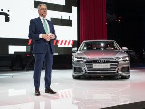 Rupert Stadler (Chairman of the Board of Management of AUDI AG) at the International Motor Show Geneva 2018.